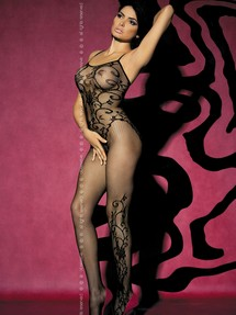 Bodystocking F205 Black - Obsessive