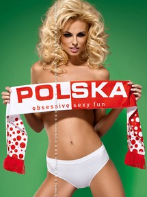 Szalik Model Fun Scarf Polska White-Red - Obsessive