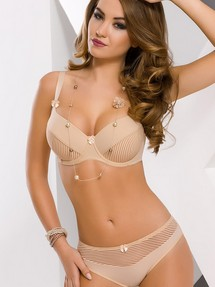 Soft Bra Biustonosz Soft Model VB-11 Black and Beige - Vena